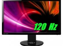 مطلوب شاشة كمبيوتر 120h او 144h والحجم مابين ال 24inch الى 27 inch