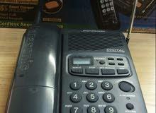 هاتف ارضي ياباني اصلي  لاسلكي مع انسر مشين نوع PanasonicKXTCM546BXB