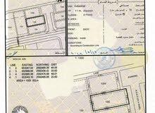 للبيع ارض صناعية ممتازة في العامرات صناعية العتكية 1000متر بـ(80000)رع