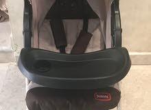 عربة اطفال وكرسي سيارة 2×1 للبيع