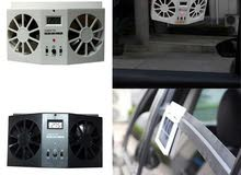 auto Car fans solar powered Cooling system kit DC12V White Air Vent Exhaust Fan ,