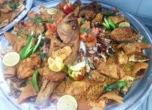 أسماك طازجه ومأكولات بحريه