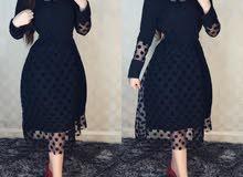 فستان ميدي اسود فقط  السعر 25  الف  القياسات 40 لل 50  القماش تور امبطن صيفي ترك