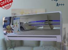 بالتقنيه اليابانية مكيف فوجي بتقنية2019 توفير A+++ حامي بارد بسعر مغري