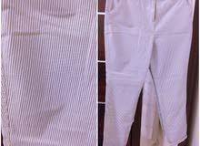 Papaya light blue & white pants