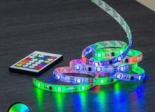 شريـط إضـاءة LED RGB  مقاوم للماء + توصيل لكافة المدن