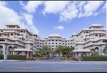 دبي نخلة جميرا غرفة وصالة مستوي فندقي مع بلكونة وشاطي خاص - ايجار شهري شامل