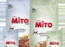 طعام قطط 15 كيلو Mito دجاج/دجاج وسمك شامل التوصيل