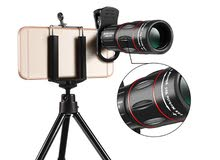 Universal 18X Zoom Mobile Phone Telescope Lens, Phone Camera Telephoto Lens .