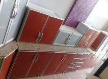 مطبخ 6متر مستخدم تفصيل نظيف جدا للبيع مع التوصيل والتركيب  1600 ريال 0576933763