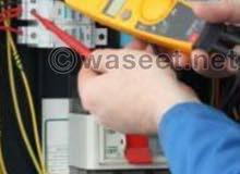 مهندسون كهربائين لاصلاح جميع اعطال الكهرباء المعقده ومقاولات الكهرباء
