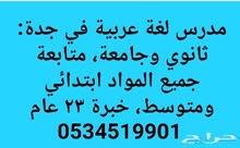 معلم لغة عربية ماجستير تربوي