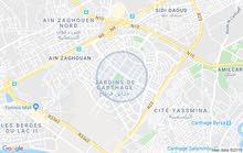 شقة للايجار حدائق قرطاج
