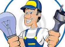 كهربائي صيانة تركيب تمديد.