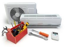 صيانة مكيفات وثلاجات وغسيل وتنضيف المكيفات وتعبئة وزيادة غاز