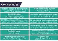 ERP System (Accounting - HR - Inventory..etc تصميم مواقع الكترونية لبيع المنتجات