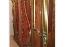 غرفة نوم كاملة 6 قطع خشب مصري زان طبيعي