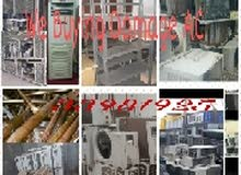We are buy anykinds of damage AC , store metal shelf  , aluminium, villas and ho