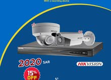 Discount 15% on  4 IP Hikvision Surveillance Cameras  6 megapixels With Recording device