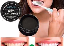 تبييض الأسنان بالفحم المطحون لبياض ناصع