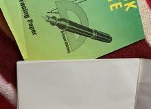 ورق كالك  3 بلوكات مجموع الورق فيهم 150 ورقة