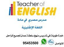 مدرس مصري  في مادة  اللغة الإنجليزية