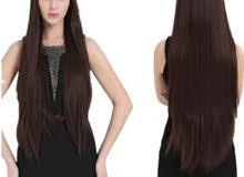 wig ( natural hair)شعر طبيعي باروكة طويل