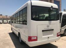 Toyota Coaster 2018 For Rent - White color