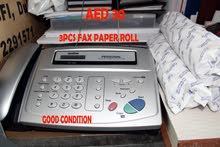 Fax machine with 3 paper roll