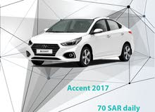 Hyundai Accent 2017 for rent