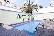 شقة شبه ارضية دوبلكس للبيع في عبدون بمساحة 400م مع مسبح و حديقة 300م