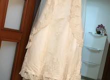 فستان عرس اوف وايت مع الطرحه