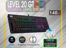 mechanical keyboard / Gaming RGB / Level 20 GT RGB Cherry MX Blue gaming keyboard كيبورد احترافي