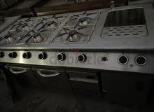 مطلوب غاز إيطالي 8 رؤس مستعمل نظيف كبيرة للمطعم وماكينة شاورما على الفحم مستعملة