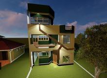 بيت كبير يصلح مقر شركة او قناة تلفزيونية مساحة الارض 300 والبناء 3 طوابق للايجار سنوي