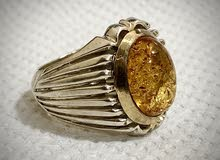 للبيع خاتم كهرمان قمة الفخامة