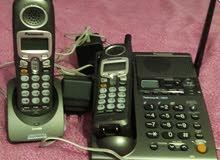 تليفون ارضى لاسلكى 2 سماعة يابانى باناسونيك