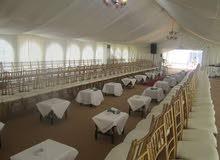 تأجير خيم كراسي طاولات لجميع المناسبات على مدار الساعة