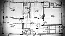 شقة للايجار في المعبيلة الثامنة بالدور الثالث