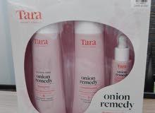 مجموعة شامبو تارا tara onion remedy للشعر متساقط و تالف و مصبوغ و بروتين
