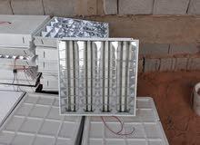 اضاءة سقف معلق 60×60 ايطالية استعمال نظيف جداا