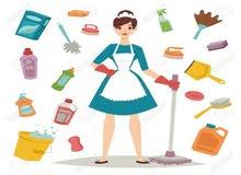 عاملات بالطلب اليومي لتنظيف المنازل الشقق المكاتب