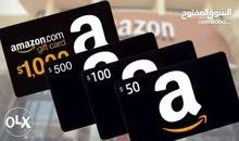 كروت او بطاقات امازون قفت كارد/ Amazon eGift Card