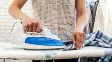 ابحث بشكل عااااجل  عن عامل لغسيل وكي الملابس يجيد اللغه العربية