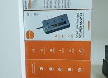 محول كهرباء مع منافذ يو اس بي ماركة porodo ضمان 12 شهر