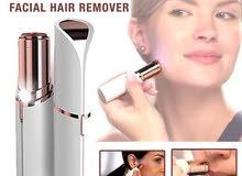 flawless facial hair remover , القلم الذهبي لازاله شعر بدون الم متعدد الاستعمالات