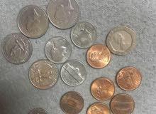 عملات نقدية قديمة للبيع من دول مخنلفة