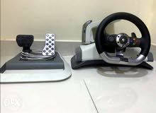 Racing Game Steering Wheel w/ pedals For xbox 360