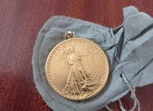 عمله النسر الذهبي المجدوج سكه هذه العمله في عام 1922 من الذهب الخالص الوزن 33.44