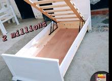 lit gigogne bois rouge solide bien fini